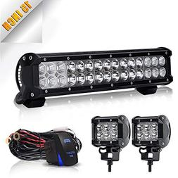 TURBO SII 14 inch Led Work Light Bar 90w Spot Flood Combo Be