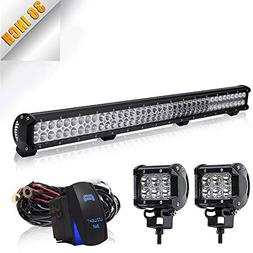 TURBO SII 36In Combo Led Light Bar On Canopy Roof Rack Brush