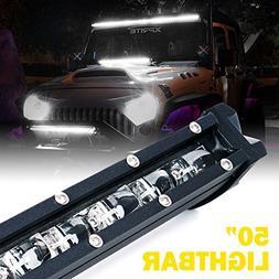 "Xprite Ultra Thin Single Row Slim LED Light Bar, 50"" 240W CR"