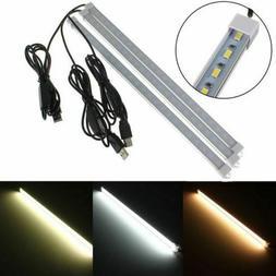 USB 35CM 7W 24 SMD 5630 LED Rigid Strip Hard Bar Light On/Of