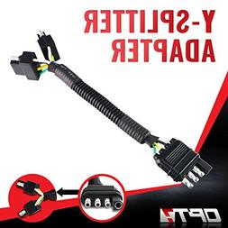 OPT7 Weatherproof 4-Pin Tow Y Splitter Connector Adapter for