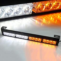 Xtreme White & Yellow / Amber 44 LED High Intensity Law Enfo