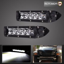 2x 6Inch 30W LED Work Light Bar Lamp Offroad Driving Fog ATV