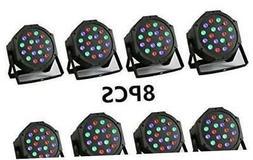 XPC 18 X 3W LED DJ Par Lights 54W RGB PAR64 DMX512 For Stage